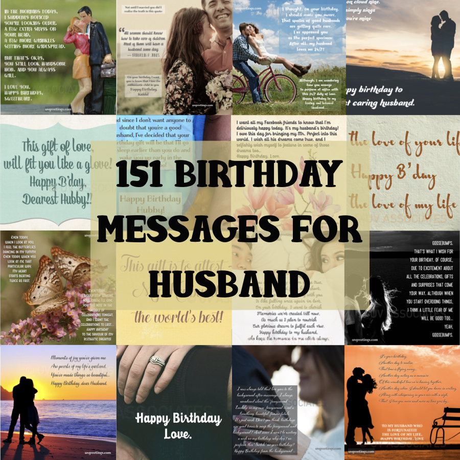 Happy birthday Husband - 151 Birthday Messages - Cover Collage