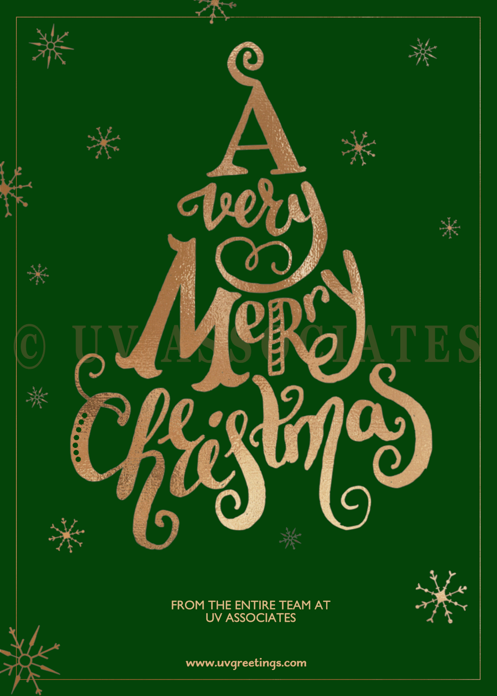 Business holiday cards uvgreetings a very merry christmas royal green magicingreecefo Images