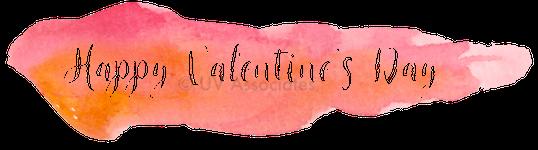 Happy Valentine's Day - Alpha channel cutout from Pink Orange Watercolor Streak
