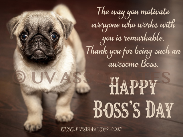 Happy Boss's Day to a Motivating Boss