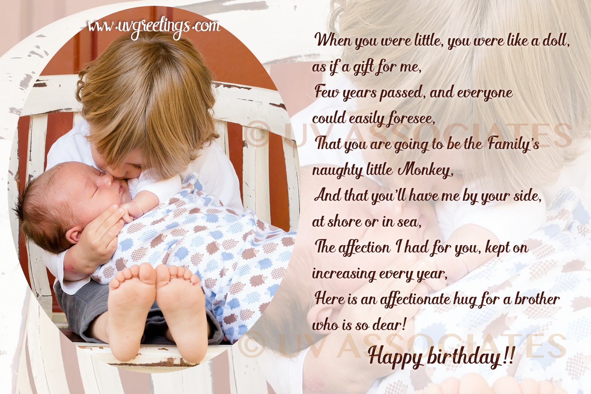 Birthday ECard For Brother