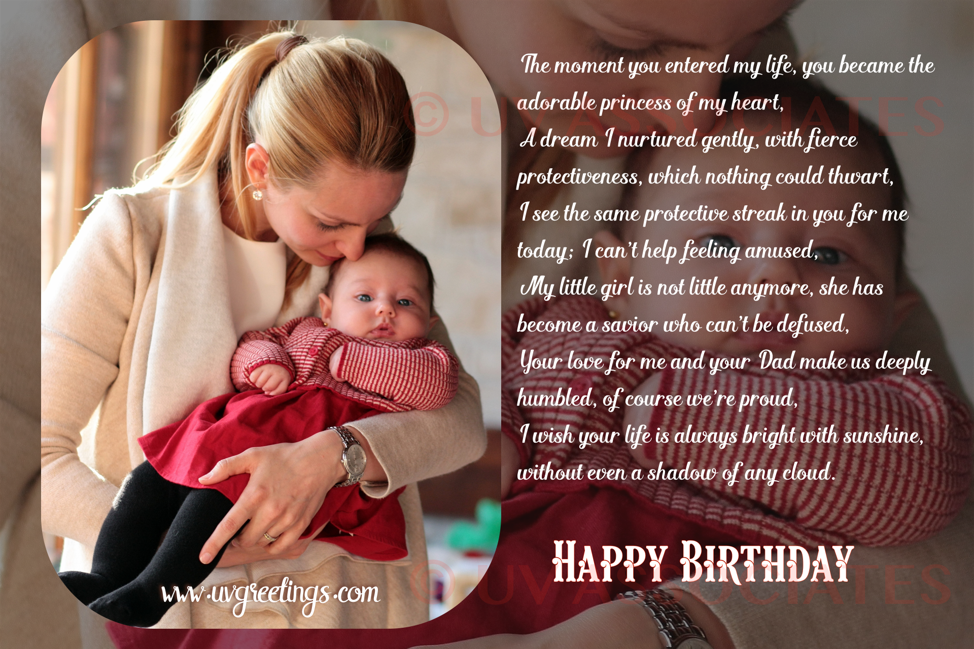 Happy Birthday Daughter - Quotes, Texts and Poems from Mom ...