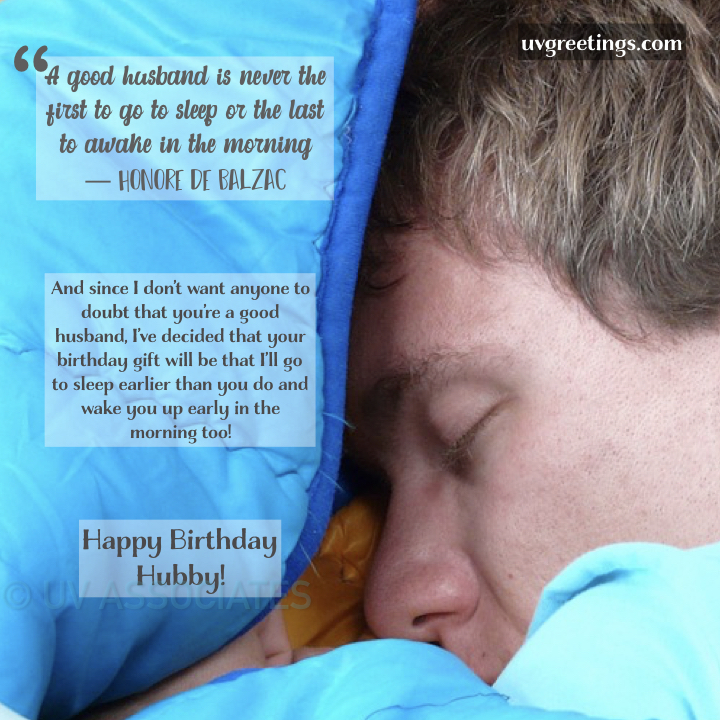 Funny Joking Quote for Husband's Birthday