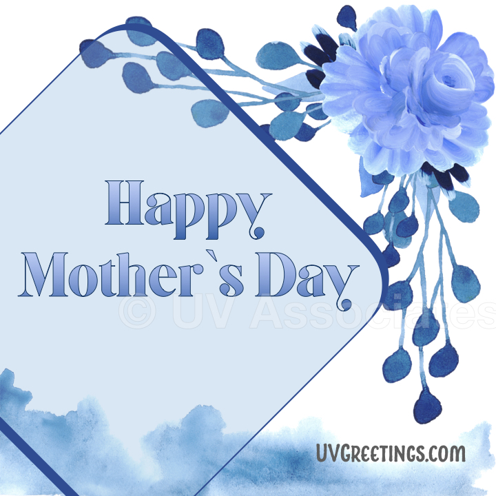 Blue Floral eCard for Mother's Day