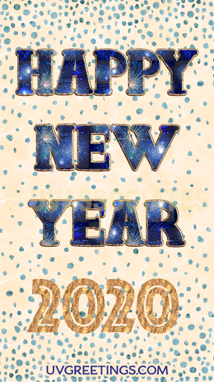 Sparkles and Confetti  -- Happy New year 2020