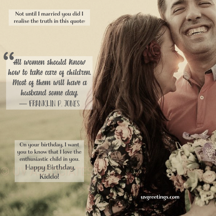 Funny Birthday Quote for Husband