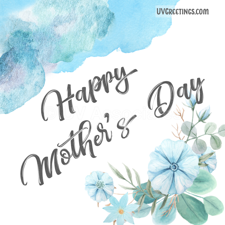 Blue Watercolor Soothing eCard for Mother's Day