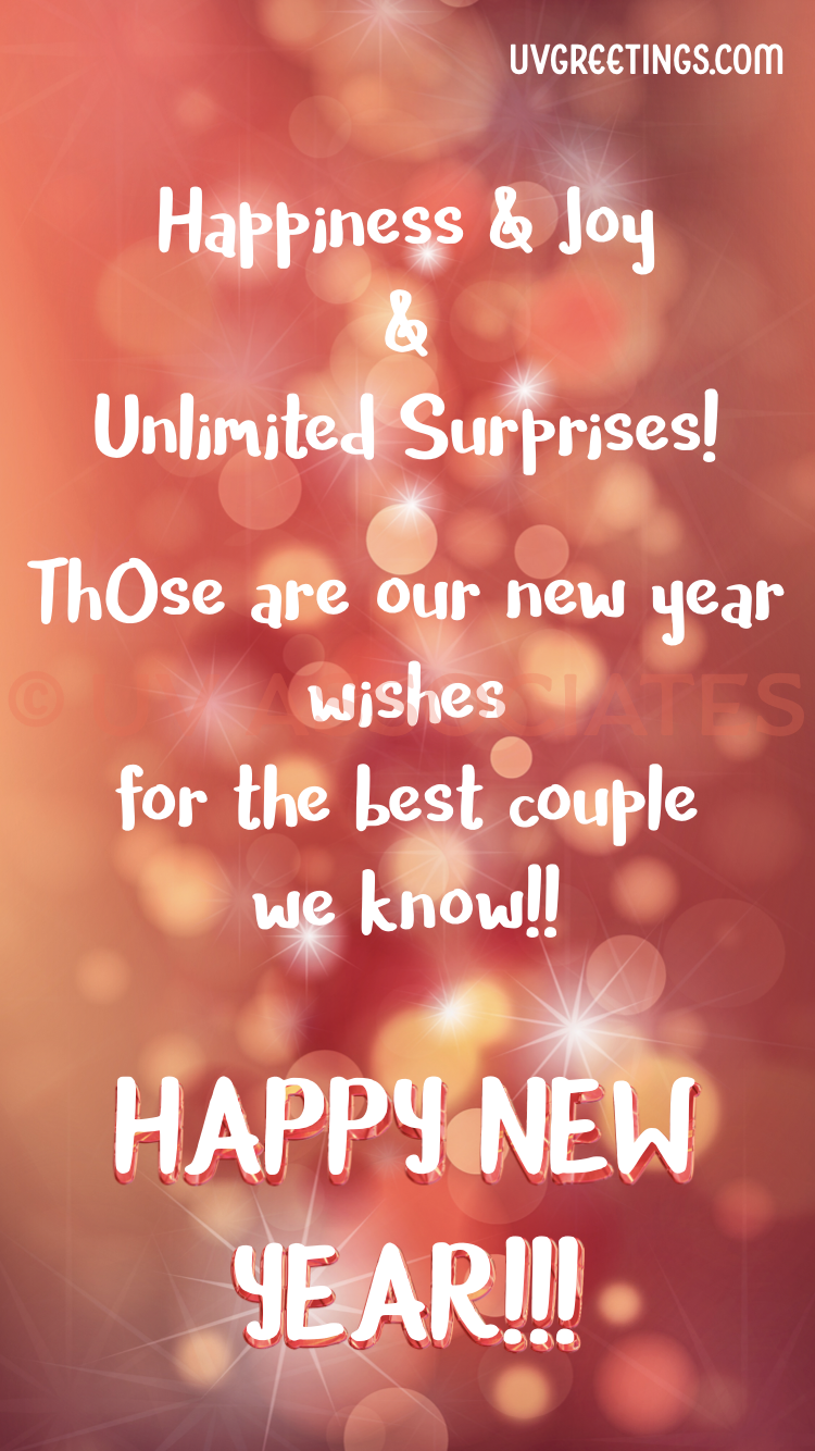 New year greeting for the best couple we know