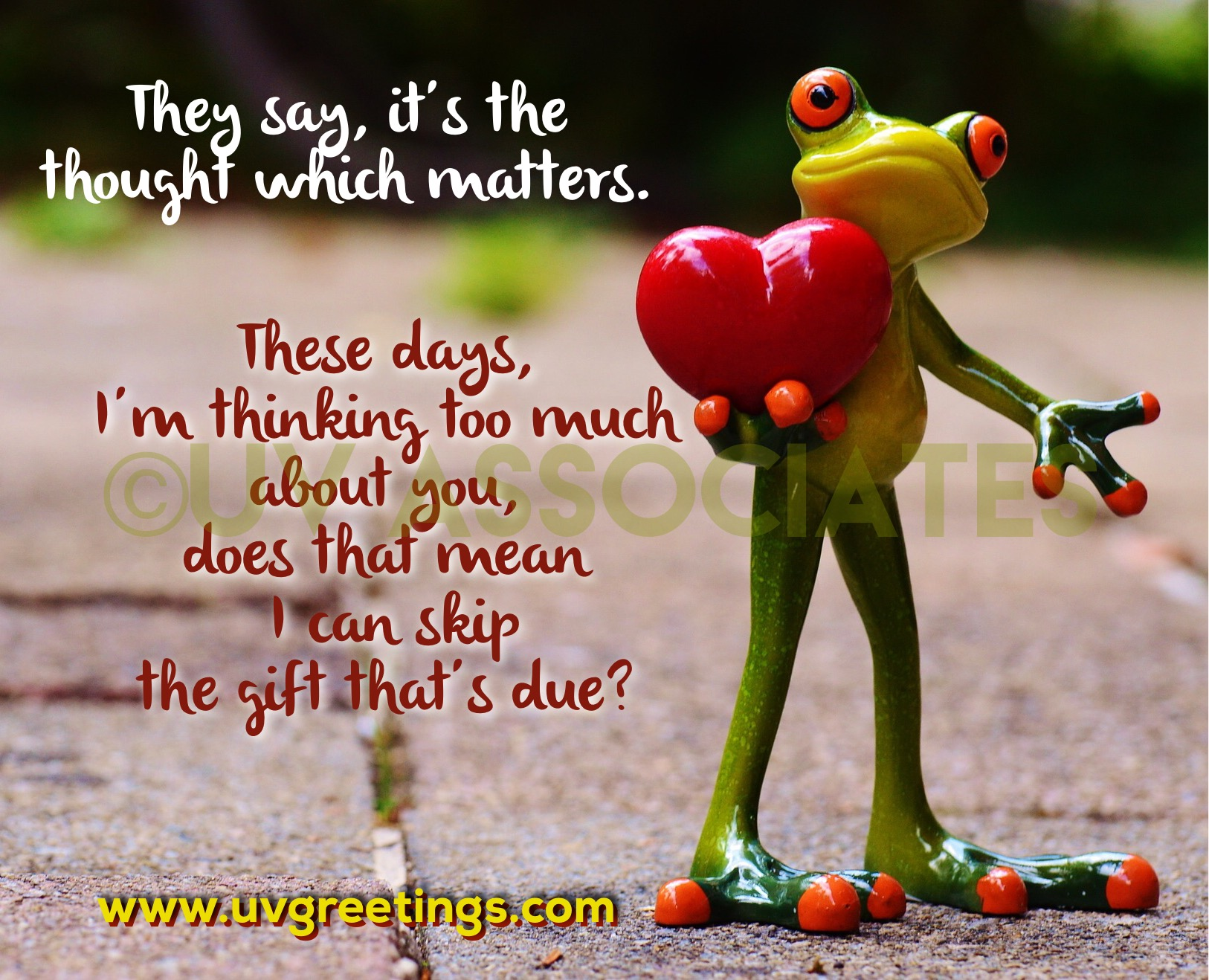 Thinking of you eCard with Funny Frog