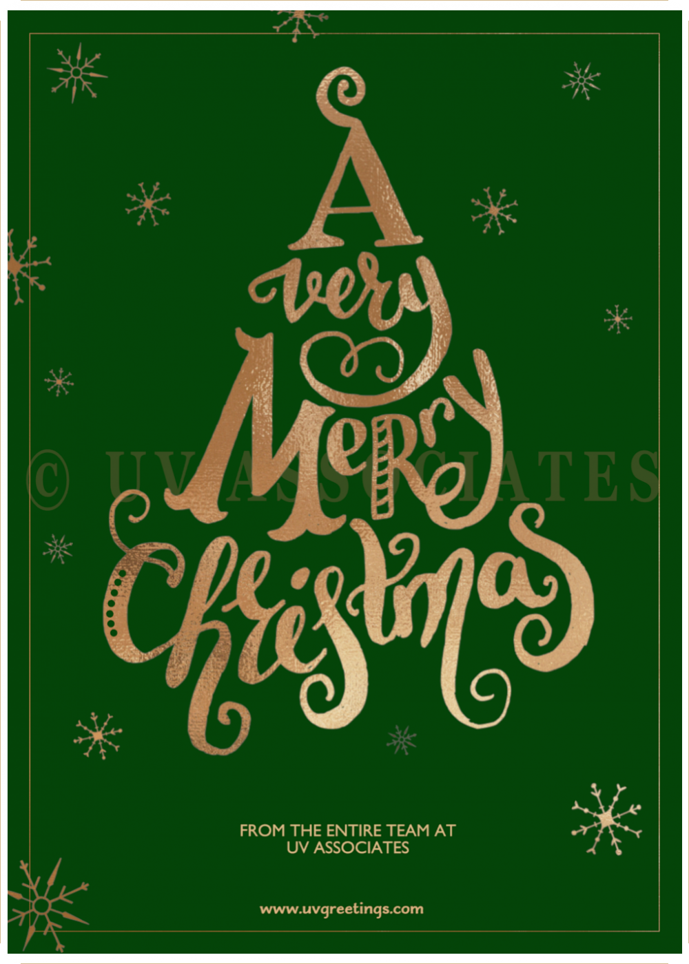 Corporate Christmas Or Seasons Greeting Cards With Christmas Trees
