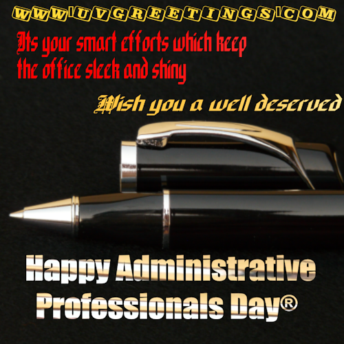 Happy Administrative Professionals' Day® - Sleek Shiny Office