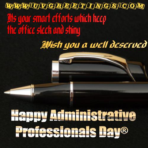 Happy Administrative Professionals' Day® - Sleek Shiny Office