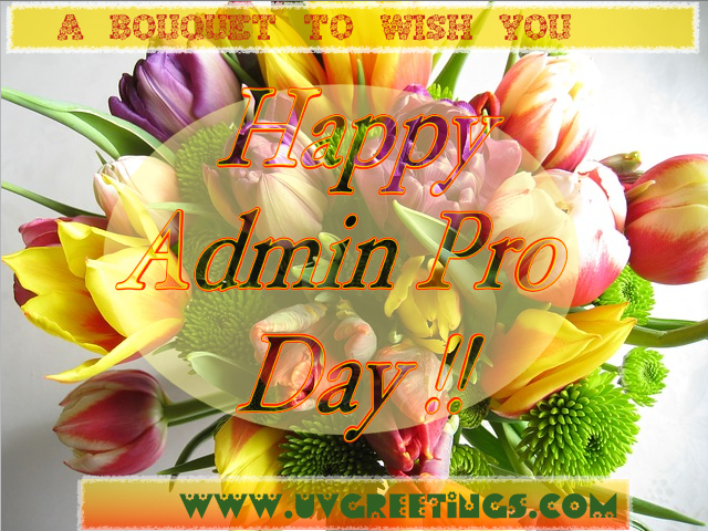 Bouquet to Wish Happy Pro Day - Transparent Text