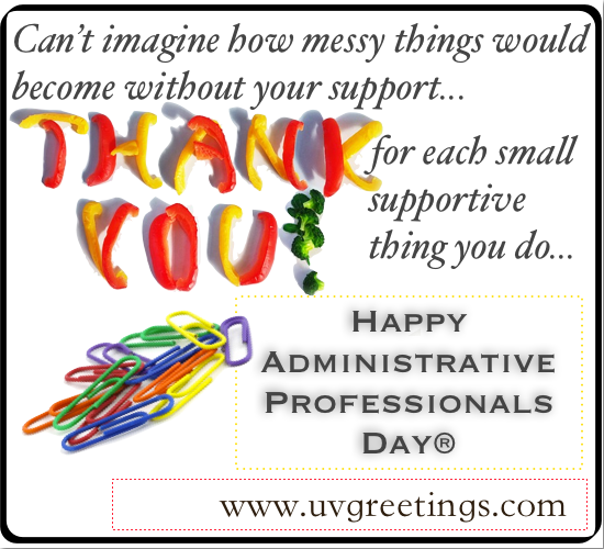 eCard wishing Happy Administrative Professionals' Day® - Thank You for each smal