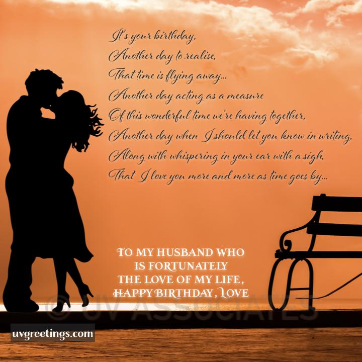 Happy Birthday Hubby -- Love you more and more each day as time goes by