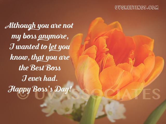 Happy Boss's Day to the favorite Boss ever