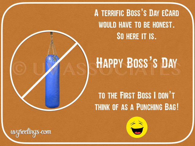 Happy Boss's Day to the First Boss who doesn't seem like Punching Bag