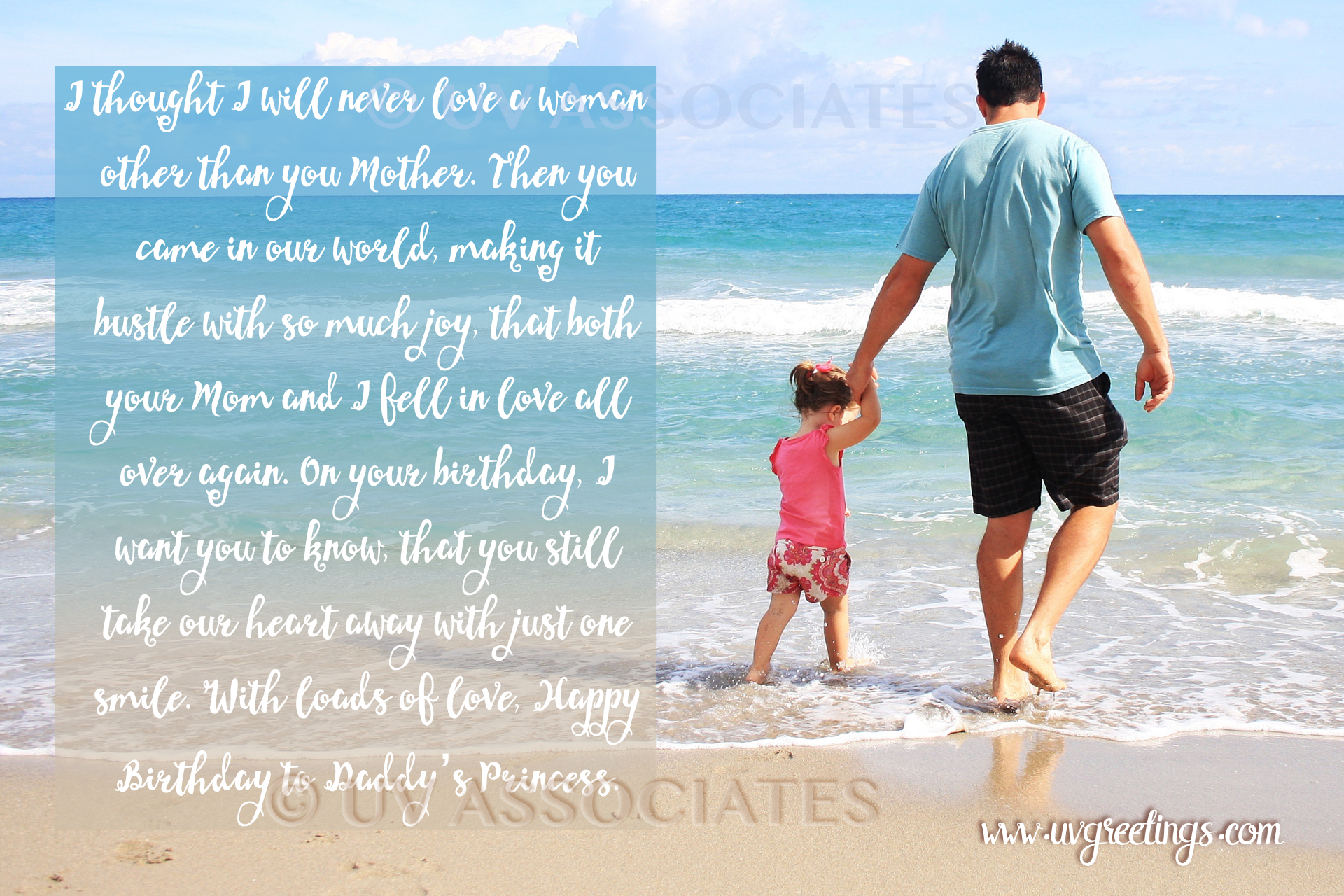 Birthday ECard For Daddys Little Princess A Daughter Who Takes Her Parents Hearts Away