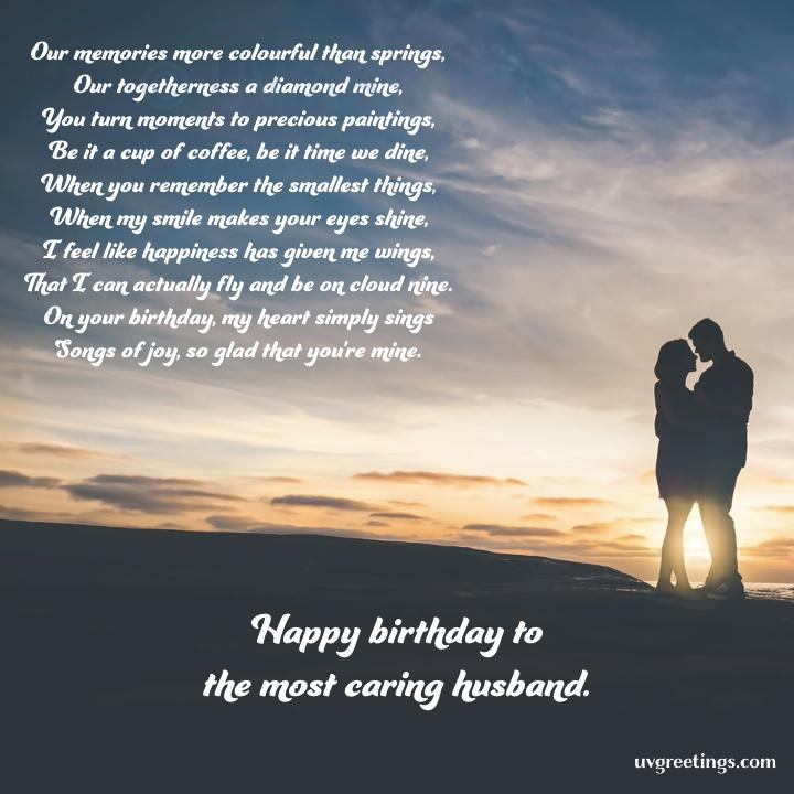 Happy Birthday Husband - A poem - an expression of happiness and gratitude