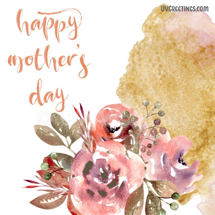 Ecard - Watercolor Flowers for Mother's Day
