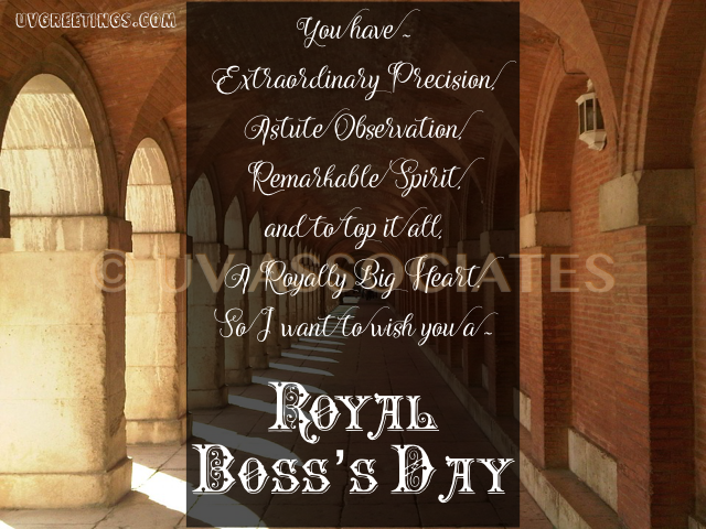 A Royal eCard for Boss with a Royal Heart