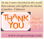 Quote for Saying Thank you on Administrative Professionals' Day®