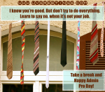 Happy Admin Pro Day - Don't do Everything
