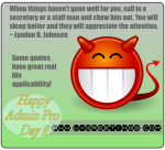 Funny Quote for Administrative Professionals® Day - Chew Staff Men