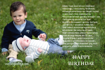 Birthday eCard for Brother - Cherishing Childhood Memories