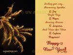 New Year Greeting featuring Fireworks and Meaningful Verse